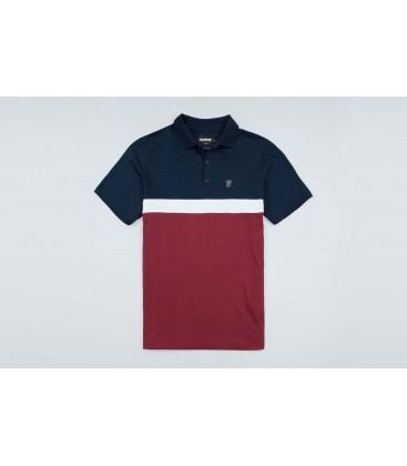 """Polo """"Oldschool"""" Navy/Red - PgWear"""