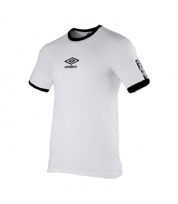 UMBRO RINGER TAPED LOGO TEE BLANCO - UMBRO