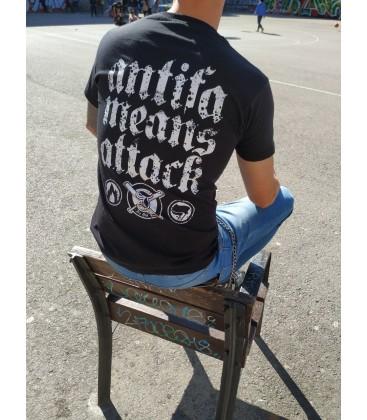Camiseta Antifa Means Attack - ITS OUR TURN