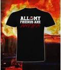 Camiseta All my friends are Antifa - Bloodsheds