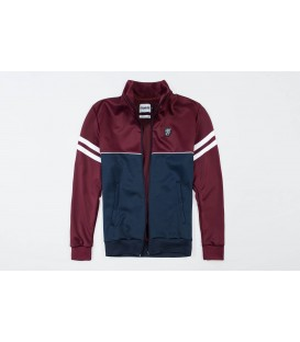 "Retro Jacket ""Brixton"" Maroon/Navy - PG WEAR"