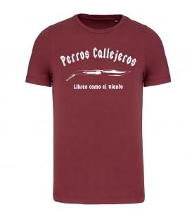 Camiseta Granate - perros callejeros