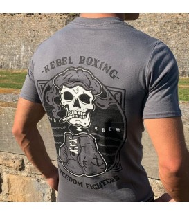 CAMISETA REBEL BOXING GRIS - KIJADA