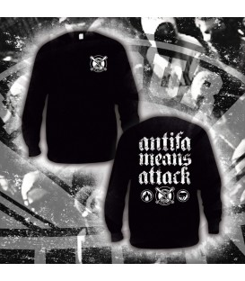 Sudadera Antifa means attack - ITS OUR TURN