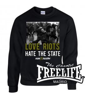 Sudadera Love Riots - FREELIFE