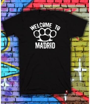 Camiseta Welcome To Madrid Negra - Bloodsheds