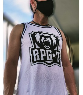 Camiseta Blanca Basket Logo - RPG 7