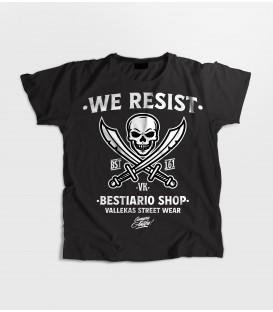 Camiseta Mujer Skull 161- WE RESIST