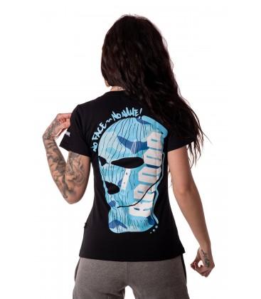 NO FACE NO NAME BLUE CAMO WOMAN T-SHIRT - RANDA