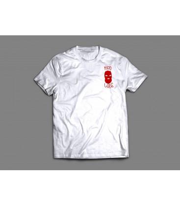 Camiseta Balaklava White/Red - MADLADS CLOBBER